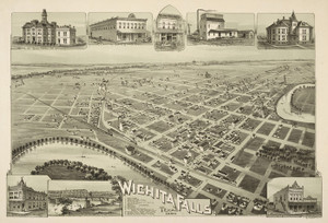 Art Prints of Wichita Falls, Texas, 1890 by Thaddeus Mortimer Fowler