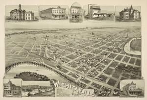 Art Prints of Wichita Falls, Texas, 1890 by Thaddeus Mortimer Fowler