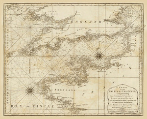 Art Prints of A Chart of the British Channel, 1787 (4723001) by Thomas