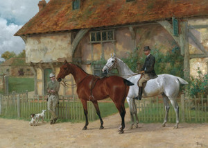 Art Prints of Outside the Horse Dealer by Thomas Blinks