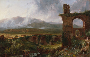 Art Prints of A View near Tivoli by Thomas Cole