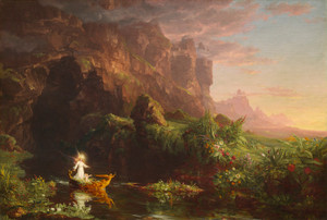 Art Prints of Voyage of Life, Childhood by Thomas Cole