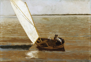 Art Prints of Sailing by Thomas Eakins