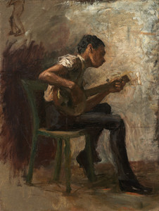 Art Prints of The Banjo Player by Thomas Eakins