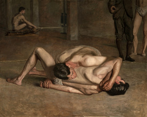 Art Prints of Wrestlers 1899 by Thomas Eakins