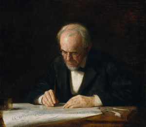 Art Prints of The Writing Master by Thomas Eakins