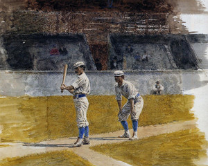 Art Prints of Baseball Players Practicing by Thomas Eakins