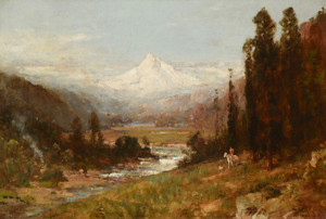 Art Prints of Mt. Hood, 1906 by Thomas Hill