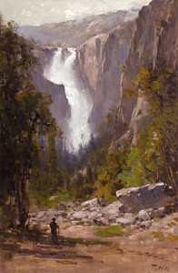 Art Prints of The Cascades, Yosemite by Thomas Hill