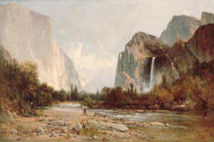 Art Prints of Yosemite, Bridal Veil Falls by Thomas Hill