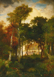 Art Prints of A Glimpse of Georgica Pond by Thomas Moran
