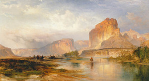 Art Prints of Cliffs of Green River by Thomas Moran