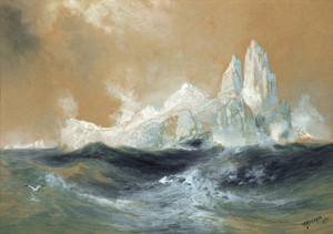 Art Prints of Icebergs 1891 by Thomas Moran