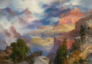 Art Prints of The Grand Canyon in Mist by Thomas Moran