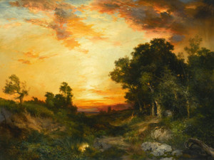 Art Prints of Sunset, Amagansett by Thomas Moran