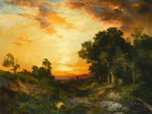 Art Prints of Sunset, Amagansett by Thomas Moran