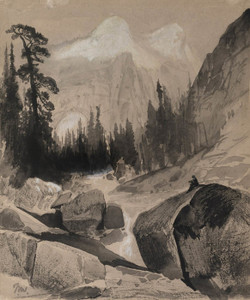 Art Prints of The North Dome, Yosemite California by Thomas Moran