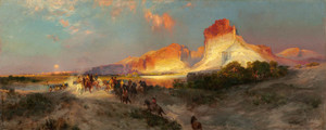 Art Prints of Green River Cliffs, Wyoming by Thomas Moran
