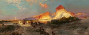 Art Prints of Green River Cliffs, Wyoming by Thomas Moran