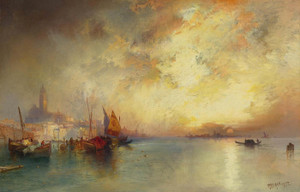 Art Prints of View of Venice by Thomas Moran