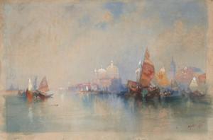 Art Prints of Venice Lagoon Looking Toward Santa Maria Della Salute by Thomas Moran