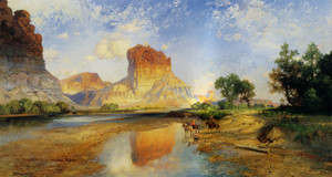 Art Prints of The Cliffs of Green River by Thomas Moran