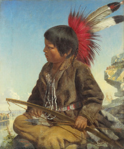 Art Prints of Indian Boy at Fort Snelling by Thomas Waterman Wood