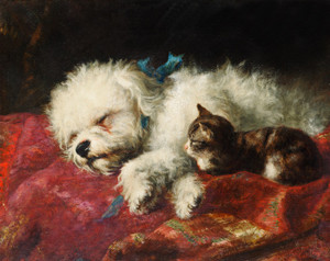 Art Prints of Taking a Nap by Thomas William Earl