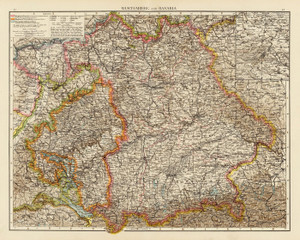 Art Prints of Wurtemberg Bavaria, 1895 (1010026) by Times London and Richard Andree
