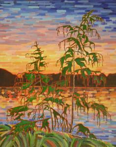 Art Prints of Sunset Lake by Tom Thomson