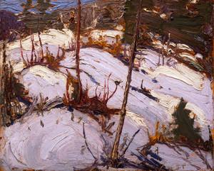 Art Prints of Winter Hillside, Algonquin Park by Tom Thomson