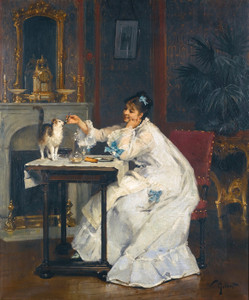 Art Prints of A Meal for Two by Victor Gabriel Gilbert