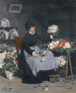Art Prints of The Flower Market by Victor Gabriel Gilbert