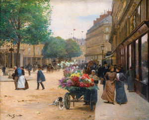 Art Prints of The Flower Seller by Victor Gabriel Gilbert