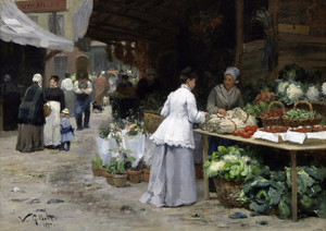 Art Prints of The Vegetable Market by Victor Gabriel Gilbert