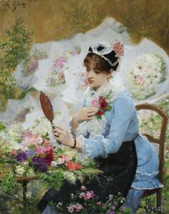 Art Prints of The Flower Seller II by Victor Gabriel Gilbert