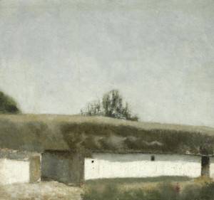 Art Prints of Landscape with Farm by Vilhelm Hammershoi