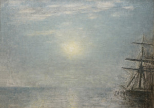 Art Prints of Sun Over the Sea by Vilhelm Hammershoi