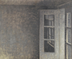 Art Prints of The Balcony Room at Spurveskjul by Vilhelm Hammershoi