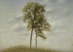 Art Prints of Young Oak Trees by Vilhelm Hammershoi