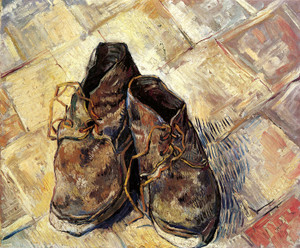 Art Prints of A Pair of Old Shoes by Vincent Van Gogh