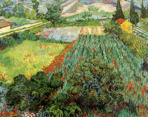 Art Prints of Fields of Poppies, 1889 by Vincent Van Gogh