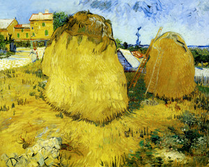 Art Prints of Haystacks in Provence by Vincent Van Gogh