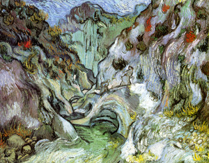 Art Prints of Le Peiroulets Ravine by Vincent Van Gogh