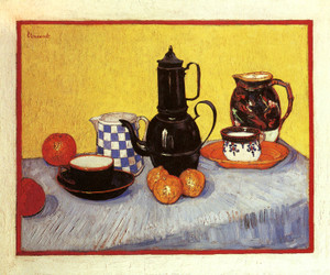 Art Prints of Still Life with Coffeepot, 1888 by Vincent Van Gogh