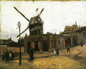 Art Prints of The Moulin de la Galette, 1886 by Vincent Van Gogh