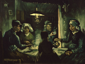 Art Prints of The Potato Eaters, Study by Vincent Van Gogh