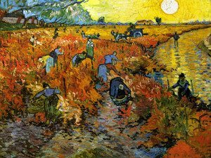 Art Prints of The Red Vineyard by Vincent Van Gogh