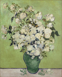 Art Prints of Vase of Roses, 1890 by Vincent Van Gogh
