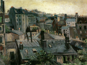 Art Prints of View of Paris Rooftops by Vincent Van Gogh